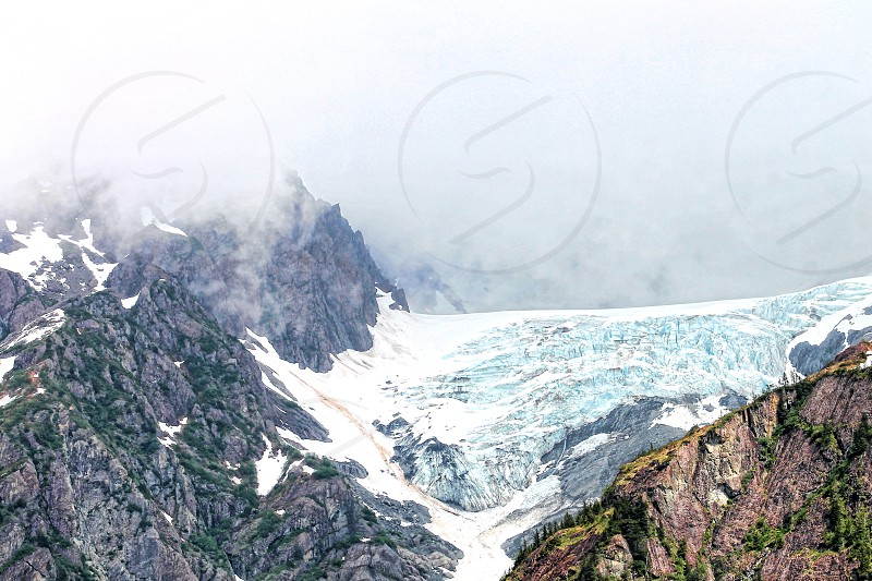 Glacier near Resurrection Bay Seward Alaska photo