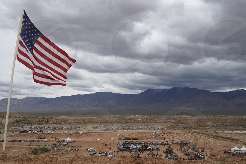 Arizona USA us flag scenery  photo
