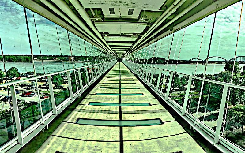 Hallway Mississippi River Davenport Sky Bridge Bridge photo