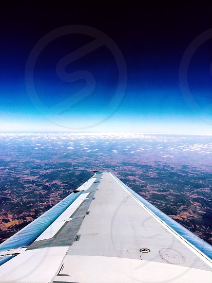 right airplane wing photo
