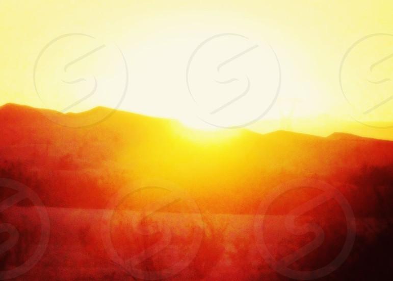 sunset view on mountain  photo