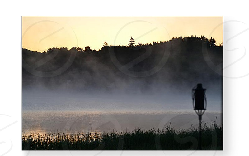 Foggy Sunrise over Loon Lake photo