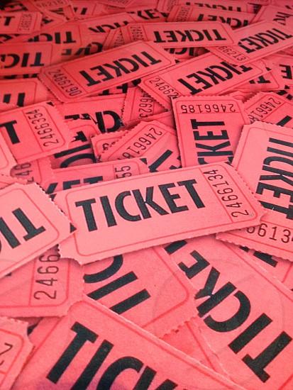 pink raffle tickets photo