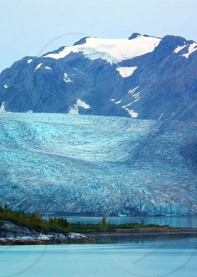snow capped mountain photo