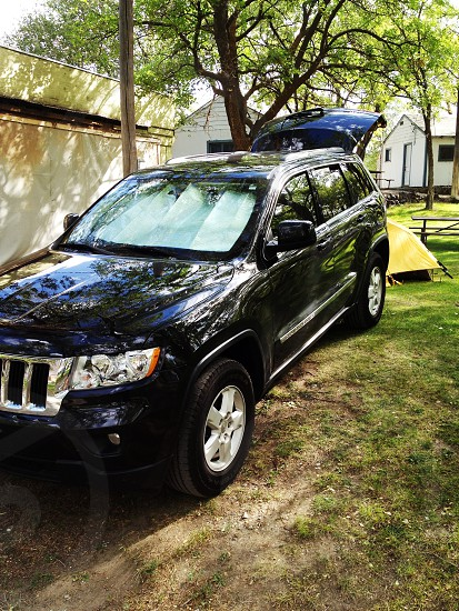 My Jeep Grand Cherokee camping at Sun lakes photo