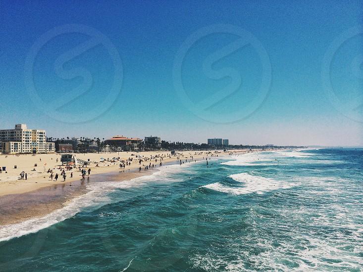 Beach x pier  photo