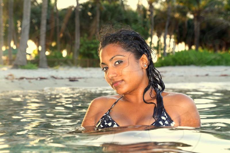 Bikini beach ocean swim swimming photo