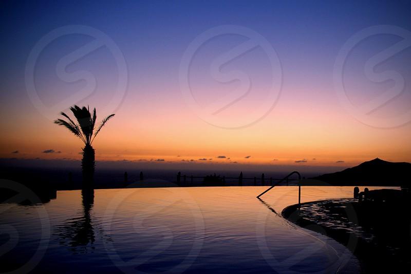 sunset ocean view photo
