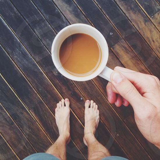 brown coffee in mug photo