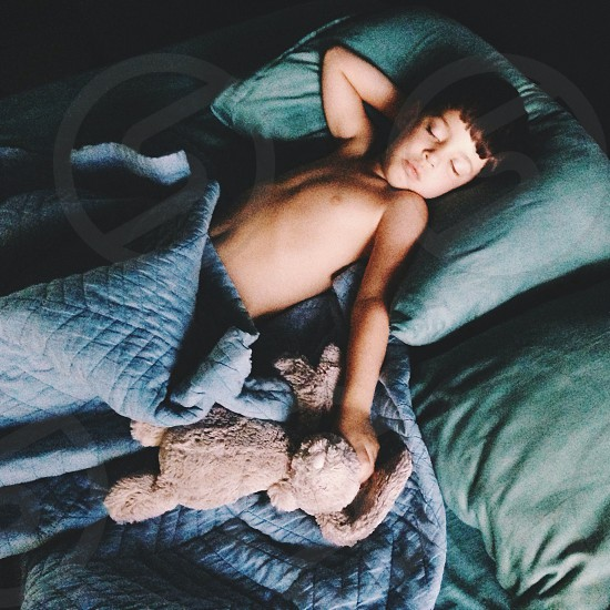 boy sleeping photo