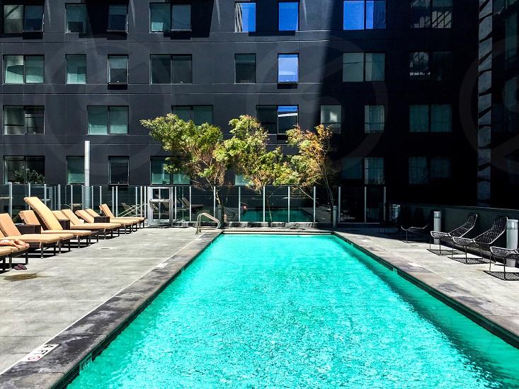 Urban swimming pool photo