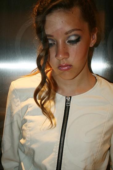 Sad young girl photo
