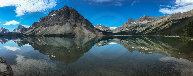 Bow Lake and Bow Glacier Banff National Park Alberta Canadian Rocky Mountains photo