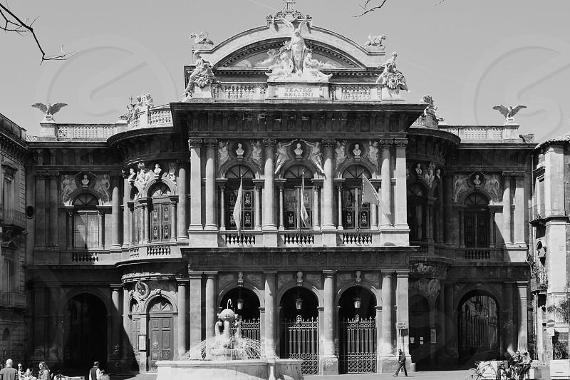 catania teatro massimo square photo