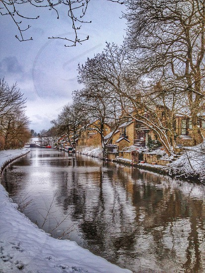 SnowywaterwayssnowcanalhousesUnited Kingdom photo