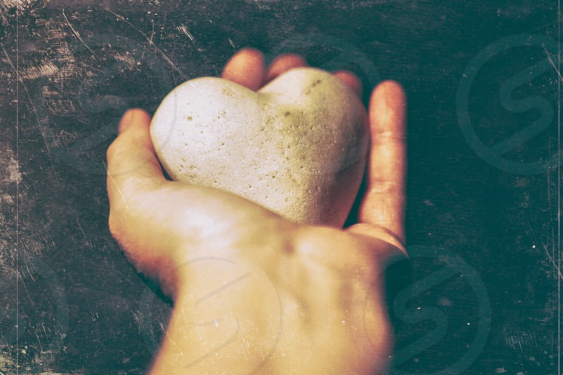 Hand showing heart photo