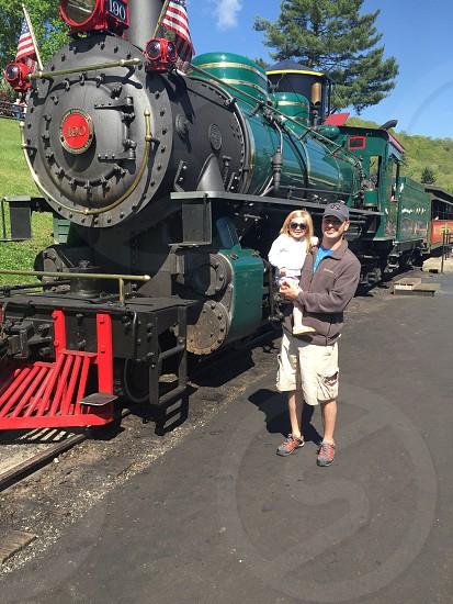 Train Father Daughter adventure  photo