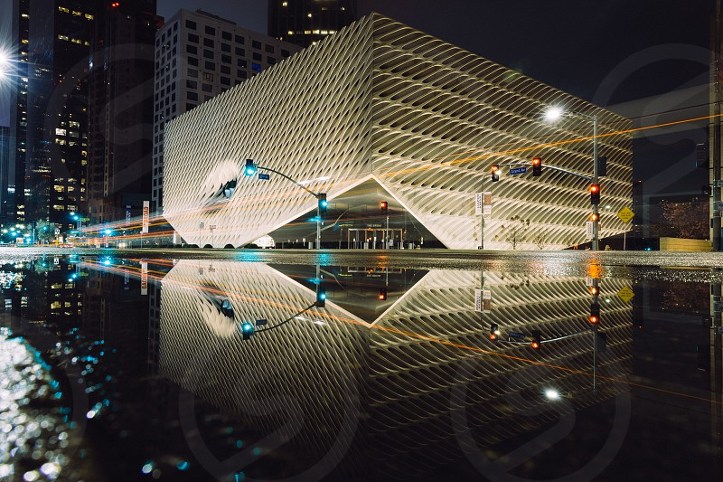 Reflection of the Broad on a rainy night photo