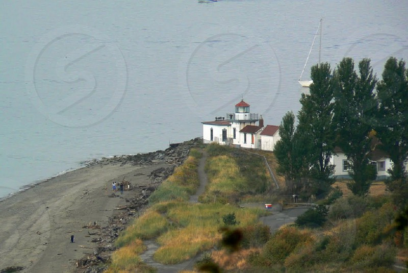 Lighthouse at Discovery Park Seattle WA photo