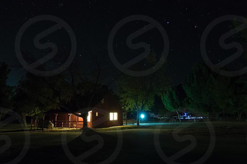 Camping banning fall season stars night  photo