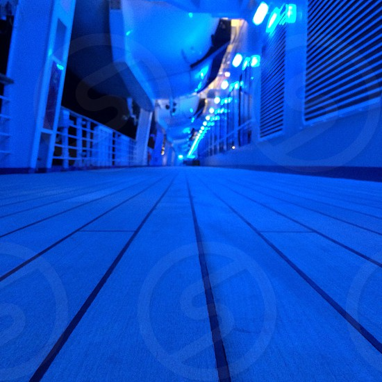 wooden flooring under blacklight photo