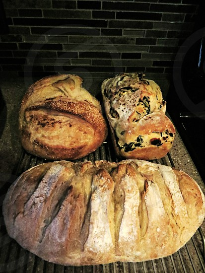 Thanksgiving bread warm from the oven. photo