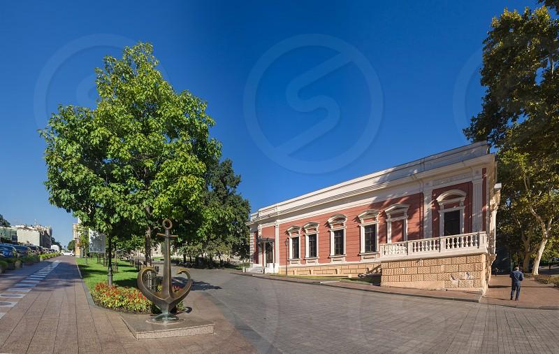 Odessa Ukraine - 09.25.2018. Theater Square the most popular tourist place in Odessa Ukraine in a sunny day photo