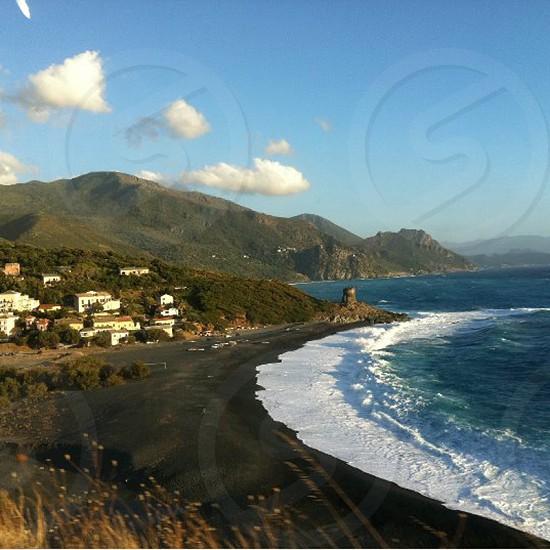 Bright sky Corsica Island photo
