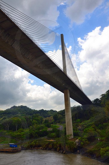 Panama Canal centennial bridge cable stayed photo