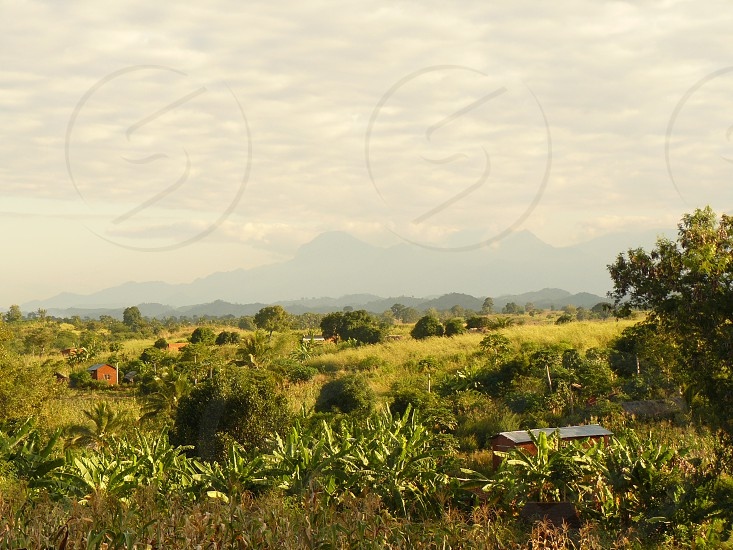 A view of the landscape from a remote village during my time in Tanzania Africa. photo