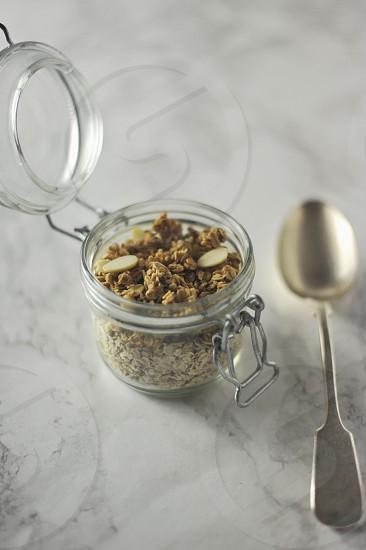 Granola spoon cooking recipes homemade food  photo