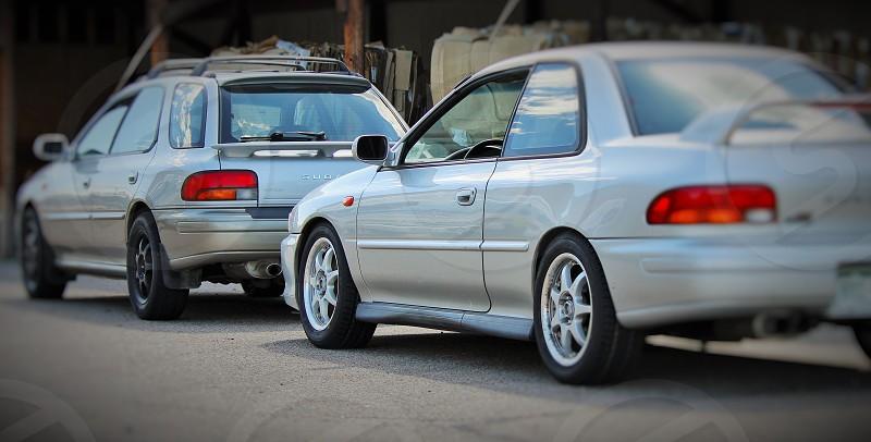 2000 Subaru 2.5RS and 2001 Subaru Outback sport photo