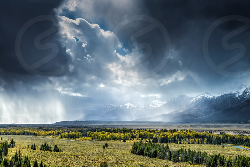 Scenic View of the Grand Teton National Park photo
