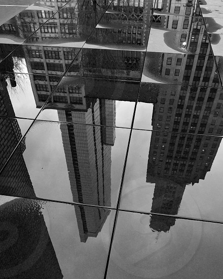 Reflections in black and white taken in Crown Plaza Chicago. photo