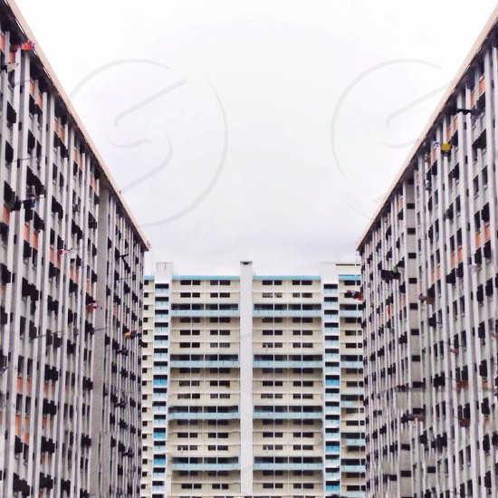 white high rise building photo