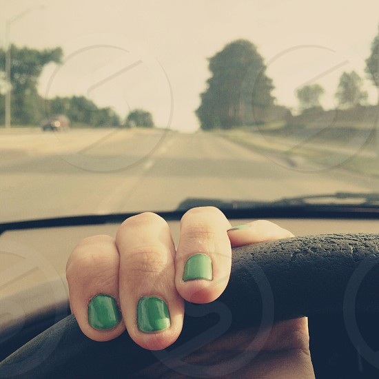 The possibilities out on the open road... road drive car nails girl photo