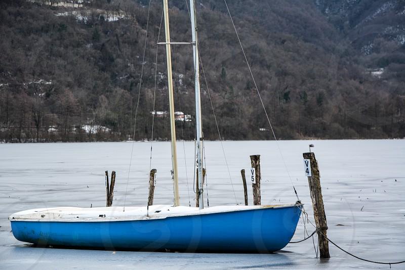 Boat lake sport fun water photo