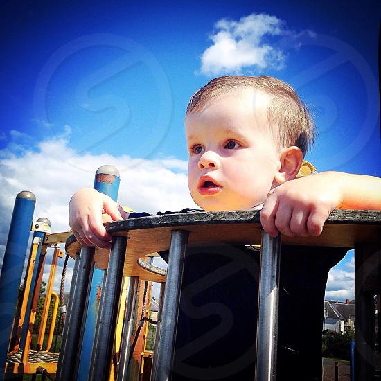 At the play park in summer. photo