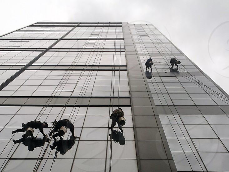 Workers on a High-rise photo