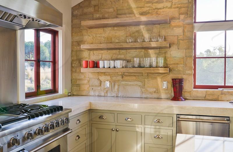 clean stone kitchen photo