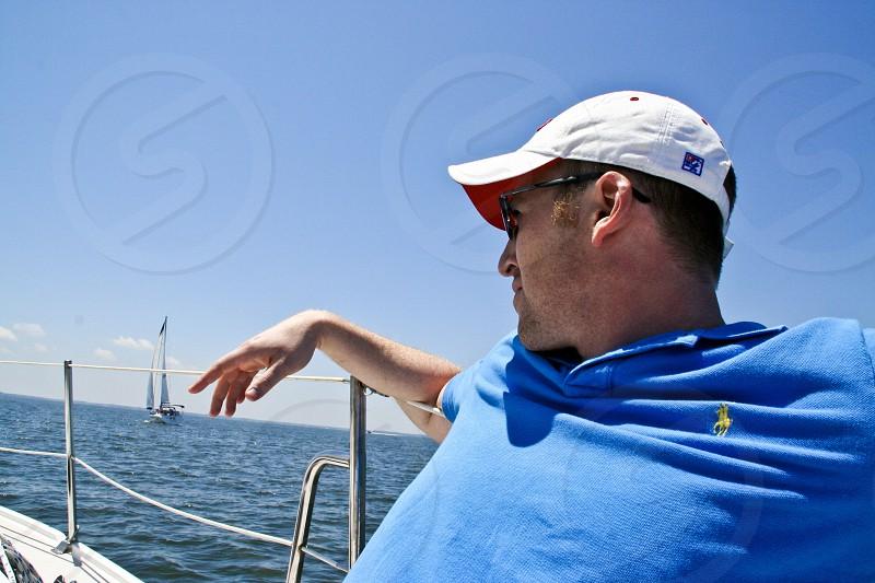 Sailing Sailboat Maryland Man photo