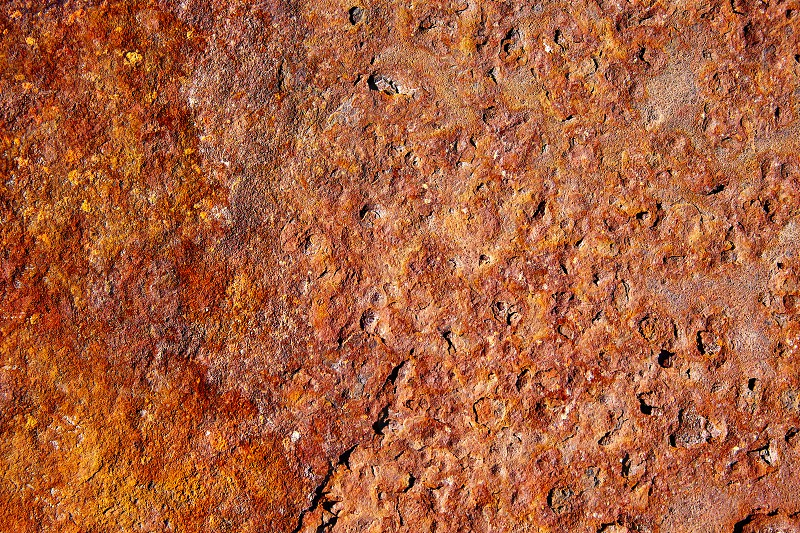 Aged rusted iron steel texture background in Canary Islands photo