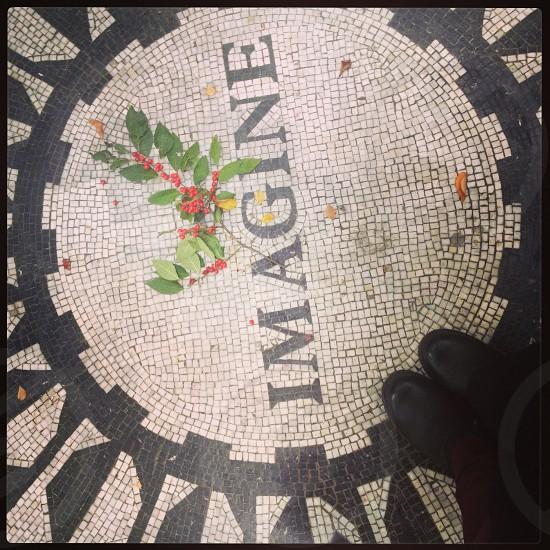 New York City street view Manhattan Central Park John Lennon Imagine Memorial photo
