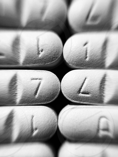Pills black and white pattern still life minimalism  photo