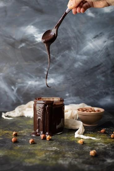Homemade Nutella. photo