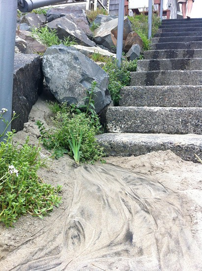 Beach steps in Cannon Beach OR photo