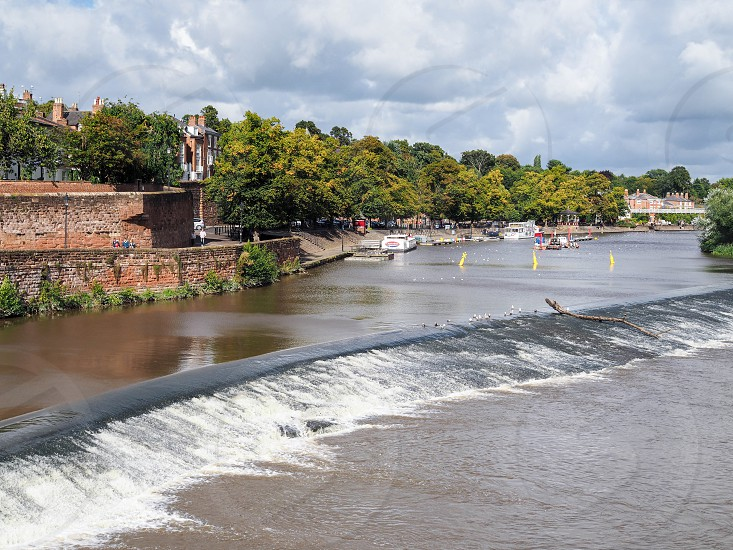 Weir on the River Dee at Chester photo