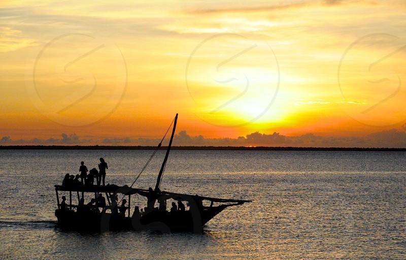 Dhow sunset cruise. Zanzibar Tanzania. photo