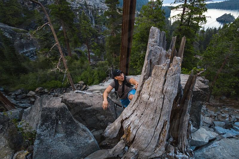 Hike climb male Lake Tahoe adventure man guy boy young adult  photo