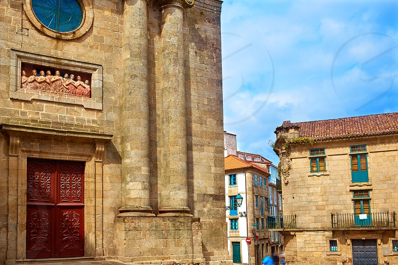 Santiago de Compostela Animas Chapel end of Saint James Way in Galicia Spain photo